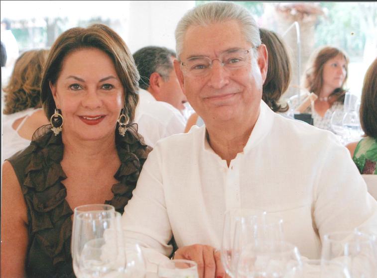 Doña María Elena Juárez de Beristain y Don Javier Beristain