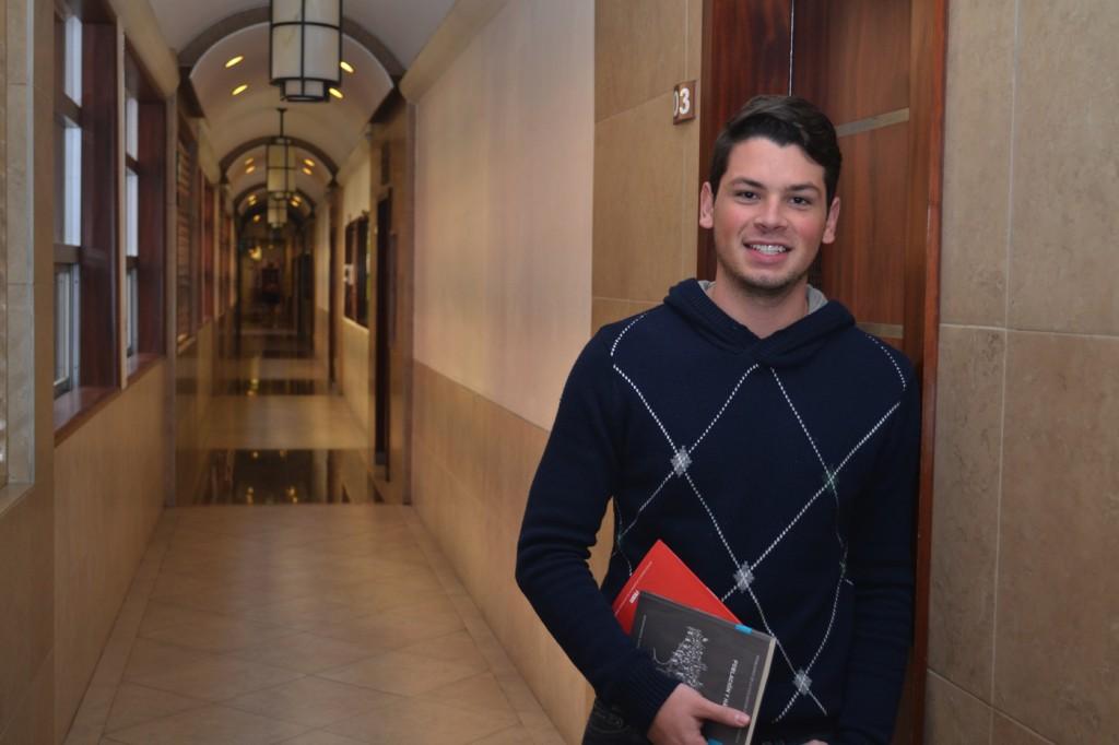 Diego, C.P. y Estrategia Financiera, beneficiario de la Beca Nuestro ITAM